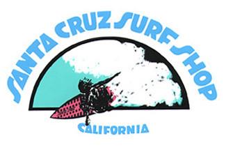 Santa Cruz Surf Shop T shirt art