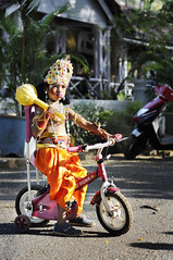 The Lord Hanuman - the God with his Pink Bicycle in Goa (Anoop Negi) Tags: carnival portrait baby india bicycle photography for monkey photo media image god photos delhi indian bangalore goa creative images lord best parade cycle po carnaval hanuman mumbai hindu anoop sita rama panjim negi ramayana lakshmana ramayan photosof shigmo ezee123 hanumana bestphotographer imagesof anoopnegi ramcharitmanas xigmo jjournalism