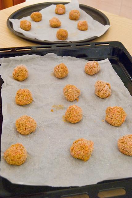 Biscotti alle carote e avena - palline