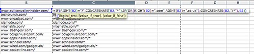 Excel - adding a wildcard at end of URL
