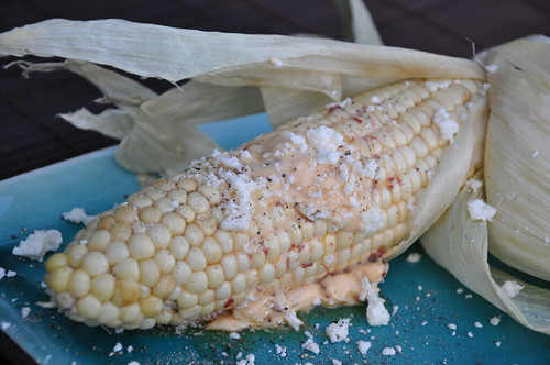 Mexican Style Grilled Corn on the Cob Recipe with Chipotle Butter and ...