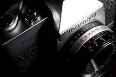 Mamiya 528AL c.1975 (365.047) (mini/eng) Tags: camera slr classic mamiya film japan vintage lens 1975 manual manualfocus shutterpriority 528 fixedlens project365 528tl strobist 528al