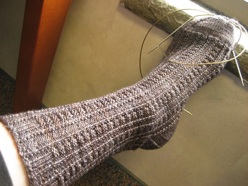 Retro Rib Socks - in progress