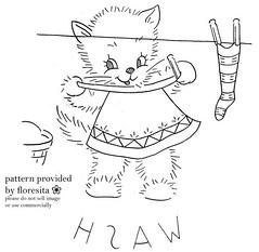 Mailorder 2-937 - kitten pattern