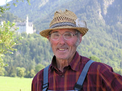 Bavarian Farmer (Bn) Tags: portrait smile hat germany bavaria farmer neuschwanstein