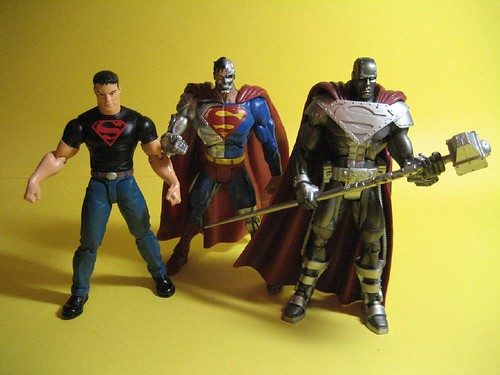 Superboy, Cyborg Superman, and Steel
