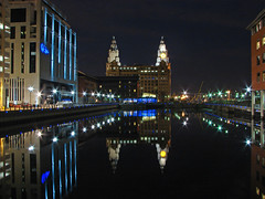Reflections of the Pool (Mr Grimesdale) Tags: reflection liverpool docks liverpooldocks sony nightime merseyside dockland liverbuildings capitalofculture rivermersey mrgrimsdale stevewallace capitalofculture2008 liverpoolcapitalofculture2008 dsch2 princessdock europeancapitalofculture2008 15challengeswinner photofaceoffwinner liverpoolcapitalofculture royalliverbuildings pfogold mrgrimesdale grimesdale
