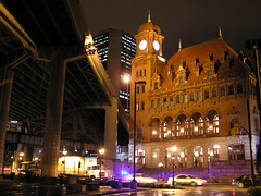 Main Street Station: Richmond, VA (lawrence_thefourth) Tags: summer urban history night wow mainstreet downtown police trains clocktower crime guns friday richmondvirginia exciting shockoebottom mainstreetstation statecapital shockoe carystreet september21 monroebuilding richmondcitypolice