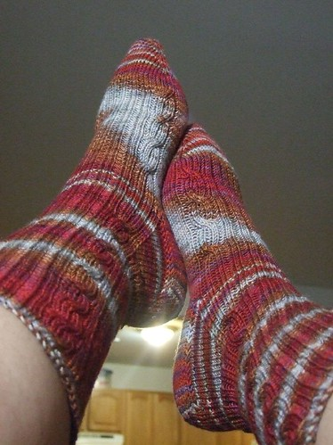 Finished Cable Rib Socks (4)