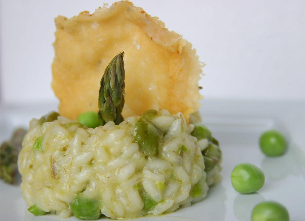 risotto asparagi, piselli e cialda di parmigiano2