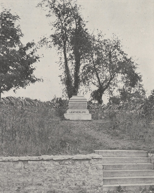 Leatherlips Monument 1918 by UA Archives  Upper Arlington History