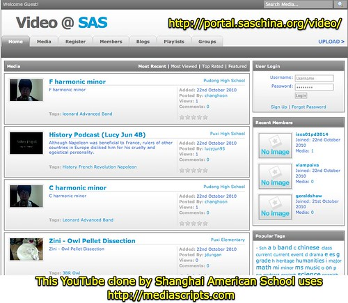 YouTube Clone from Shanghai American School
