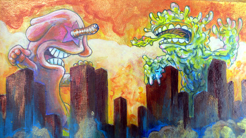 Kaiju Painting Step 9 (detail)