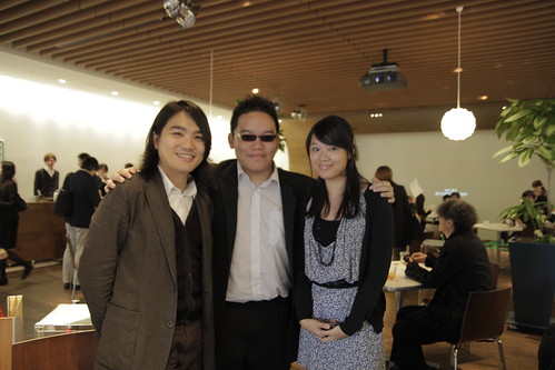 With Liao Jiekai and his producer