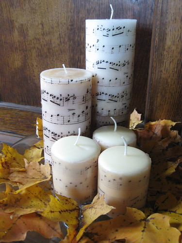 DIY Music Candles