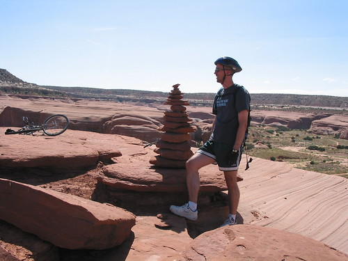 james rock cairn moab ut slick rock