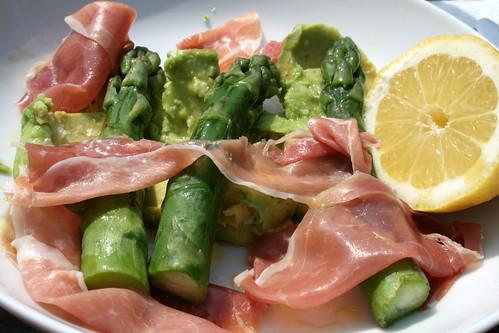 Asparagus Avocado Parma Ham Salad