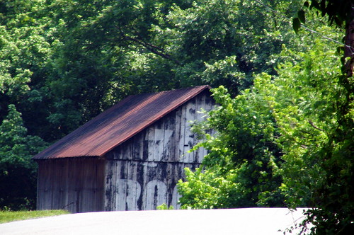 Street level view of a Rock City Barn