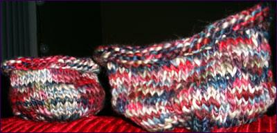 hand painted yarn bowls prefelting