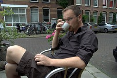 Me having a coffee in amsterdam (Dan Norcott) Tags: holiday dan amsterdam ali