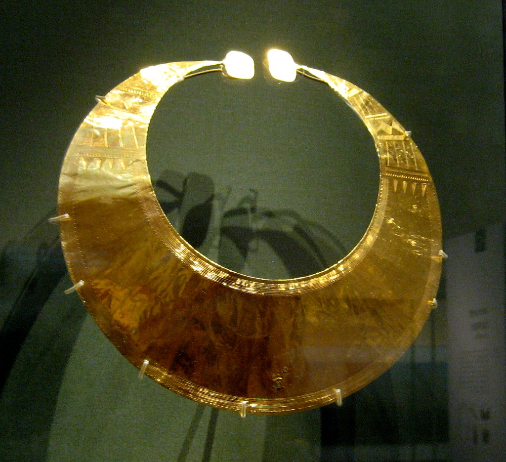 gold lunula from early Bronze-age Ireland