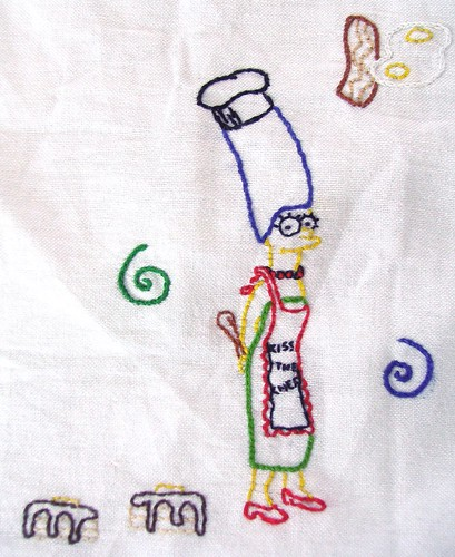 Tea towel Marge
