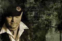 Garrett the Rock Star (BryanBankston) Tags: art rock photoshop d50 studio star nc grunge garrett bp greenville alienbees ab800