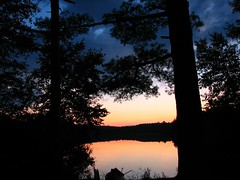 (ET Photo Home!) Tags: camping sunset camp lake water canoe pines canoeing tress naturesfinest robinsonlake
