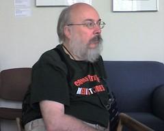 henry in a meeting, listening (alist) Tags: beard mit professor suspenders henryjenkins comparativemediastudies cmsmit
