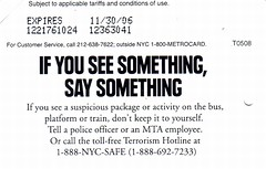 Reverso de la tarjeta MetroCard