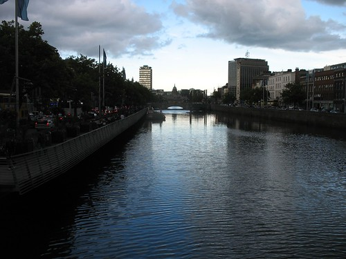 Up the Liffey From the Ha'penny Bridge