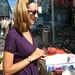 Jessica buying veggies
