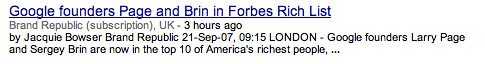 Google News Subscription Tag