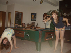 Hello Clones! (sheaireland) Tags: girls summer pool fun happy bend basement clones shorts creeper clone creep creeps