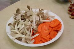 菇類和紅蘿蔔