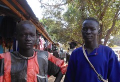 Two Pakams at the market-Rumbek,Southern Sudan,Africa (Africarlo0) Tags: africa boy portrait man cow friend cattle market sudan rumbek tribal southern dinka breeder cowherd pakam