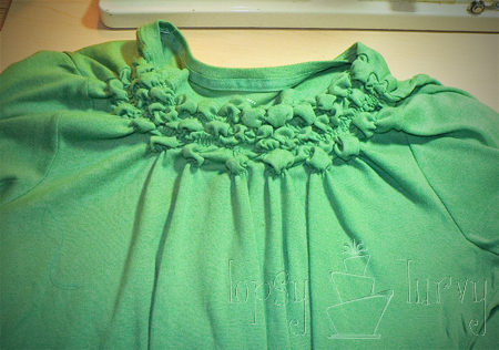green shirt curls swirls adult kids row 3