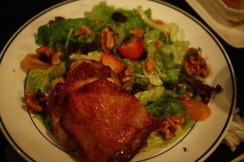 主菜沙拉+湯套餐 - 香煎無骨雞腿排