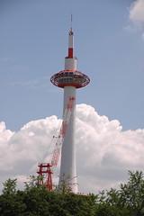 Kyōto tawā (arjay5020) Tags: japan day cloudy fernsehturm jpn 京都タワー kyōto 京都市