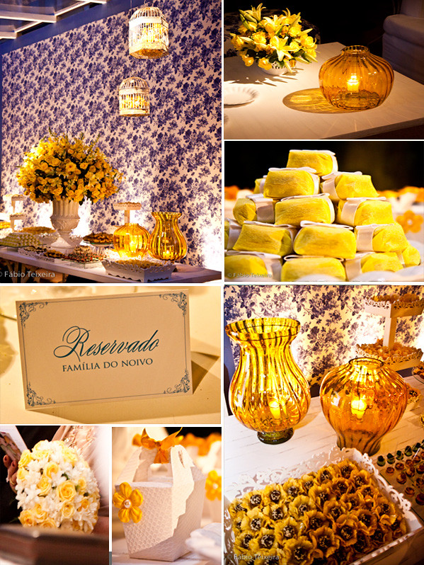 decoracao azul e amarelo casamento : decoracao azul e amarelo casamento:Cabeça de Noiva: Azul e Amarelo