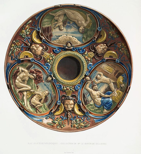015-Plato con temas mitologicos-coleccion del Baron de Sellières-Monographie de l'oeuvre de Bernard Palissy…1862