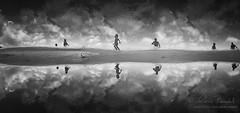 freedom (Ąиđч) Tags: sky white playing black andy kids clouds ball children fun nuvole play bambini andrea soccer dramatic andrew cielo infrared drama bianco nero calcio gioca palla iphone divertimento giocare benedetti dramma drammatico infrarossi ąиđч