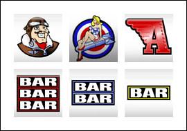 free Flying Ace slot game symbols