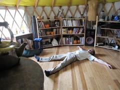wingspan (fishermansdaughter) Tags: yurt cob floorheater heatingwithwood rocketmassheater unconventionalwoodstove cleanburningwoodstove selfbuiltstove