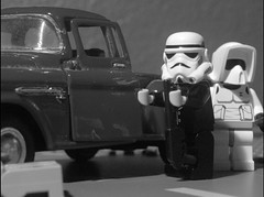 TK-903's Gang (Gmolka) Tags: bw white trooper money black make car truck rebel this star starwars gang some pickup scout it trying trouble stormtrooper imperial and while wars theyre mattel wander causing misfits tatooine legotk903s