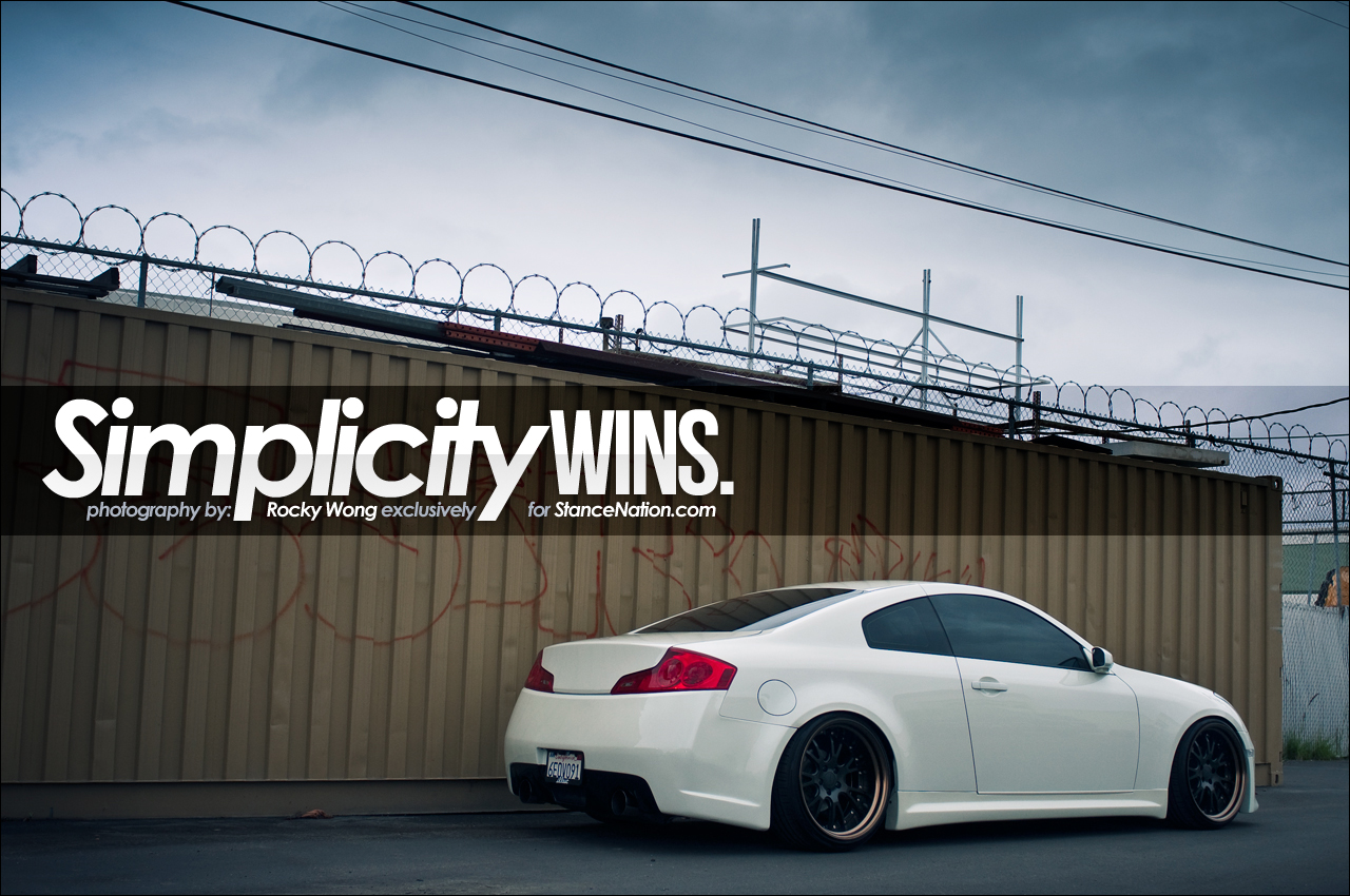 New Infiniti G35 Coupe >> Simplicity Wins. | StanceNation™ // Form > Function
