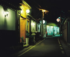 2110/1957*^:z# (june1777) Tags: street light night t pentax kodak bokeh snap ii e seoul portra 800 67 105mm f24 pentax67 pentax67ii angukdong
