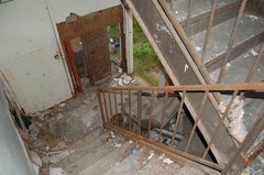 Inside the wrecked apartment complex
