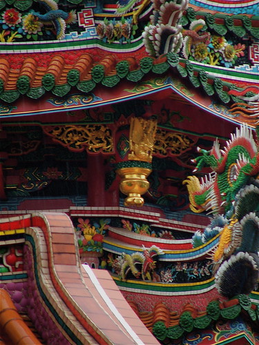 Detail of the Longshan Temple, Taipei, Taiwan