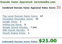 torontomike.com Appraised